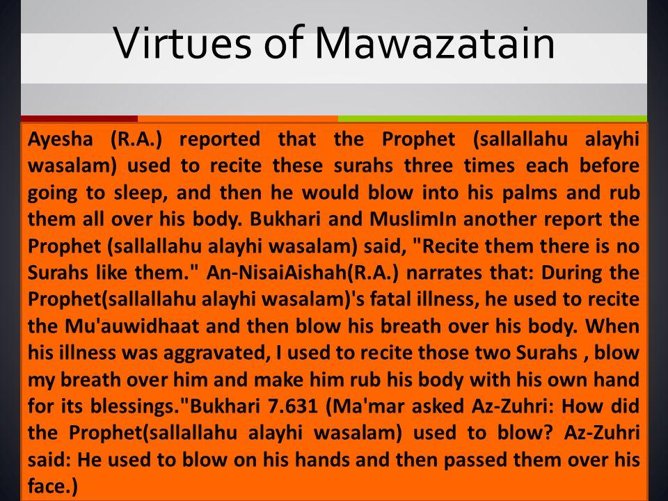 Virtues of Mawazatain