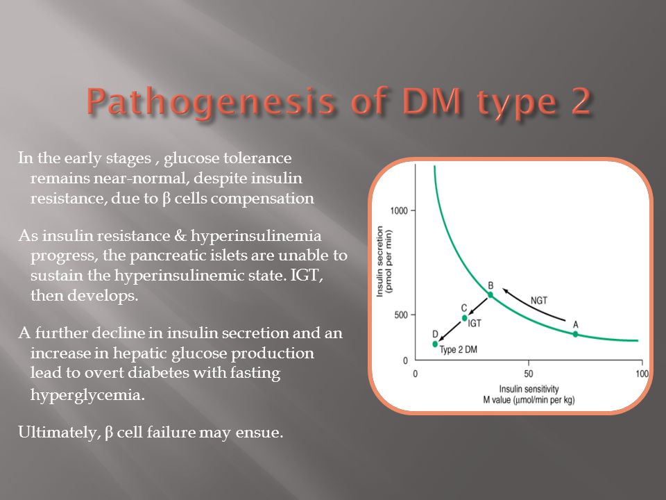 Pathogenesis of DM type 2