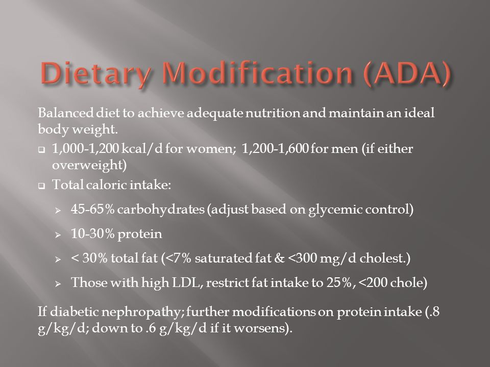 Dietary Modification (ADA)