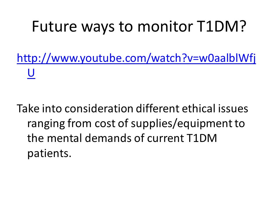 Future ways to monitor T1DM