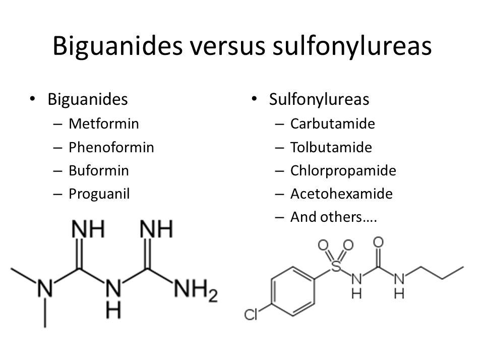 Biguanides versus sulfonylureas