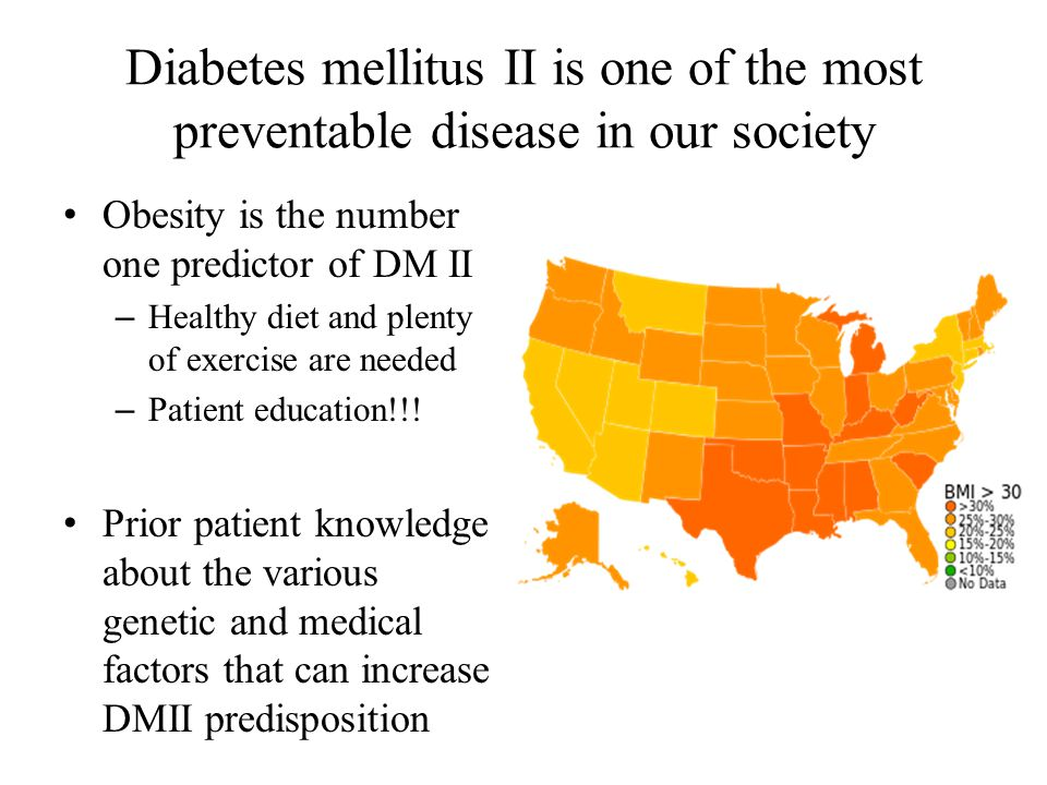 Diabetes mellitus II is one of the most preventable disease in our society