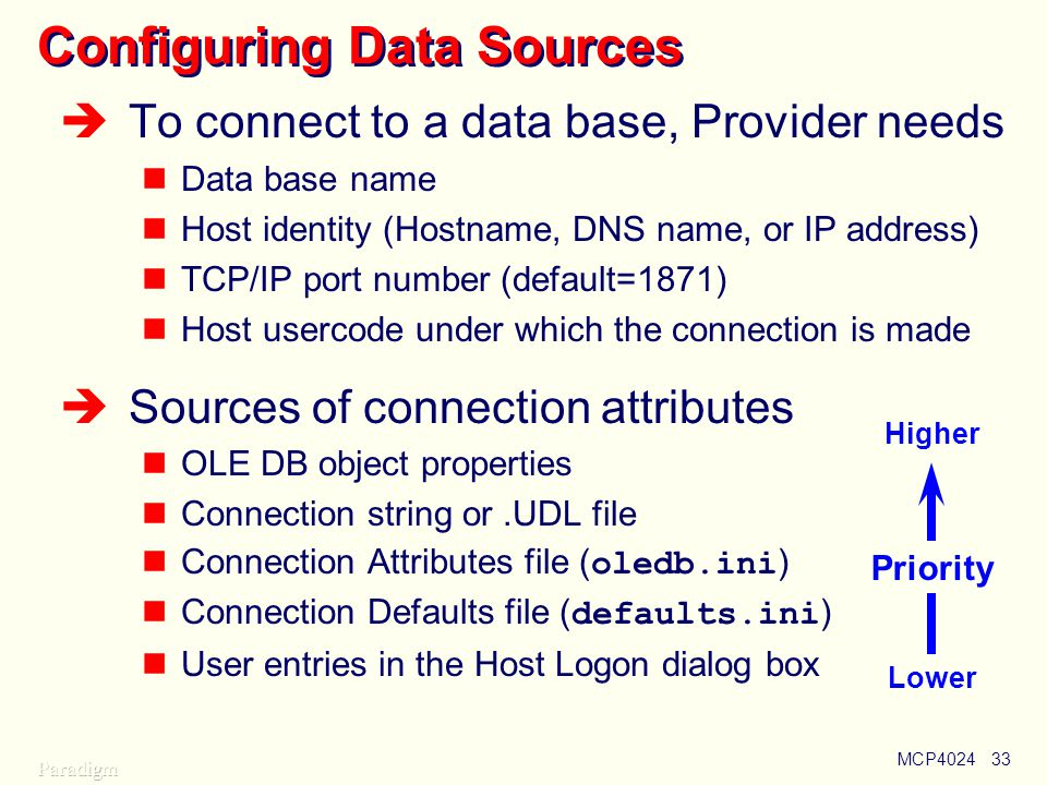 Configuring Data Sources