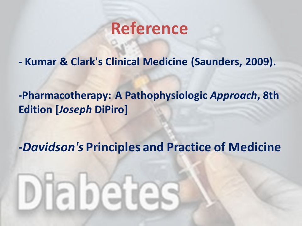 Reference -Davidson s Principles and Practice of Medicine