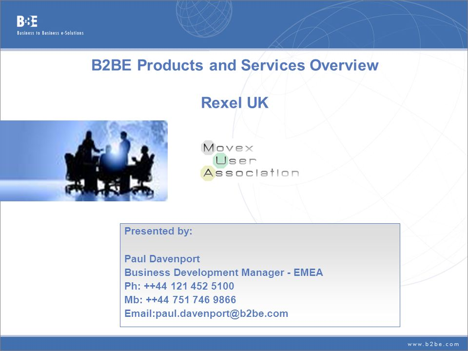 B2BE Products and Services Overview Rexel UK