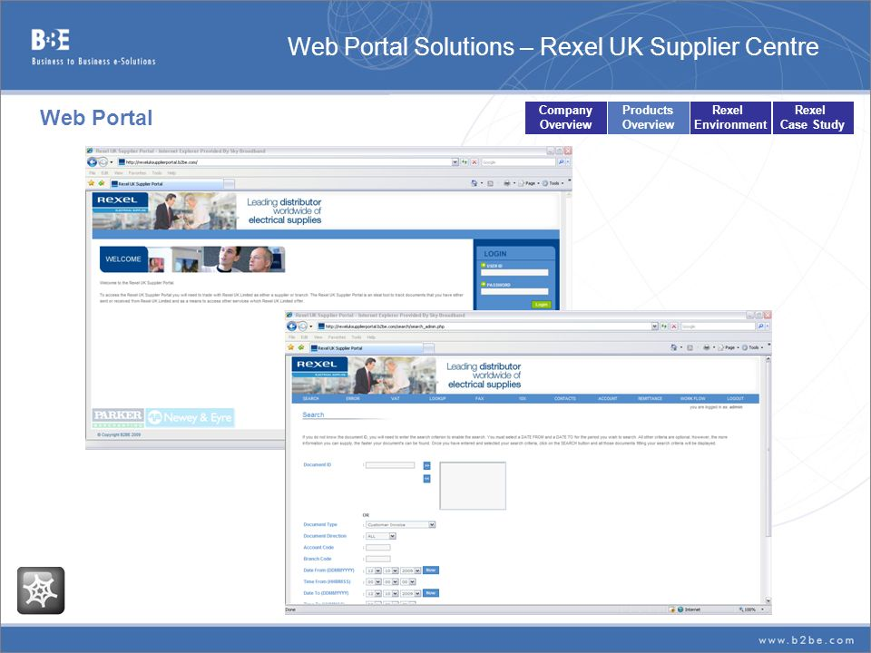 Web Portal Solutions – Rexel UK Supplier Centre