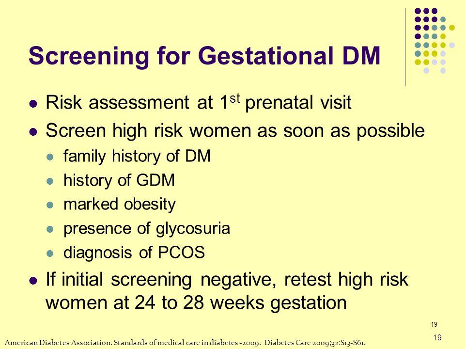 Screening for Gestational DM