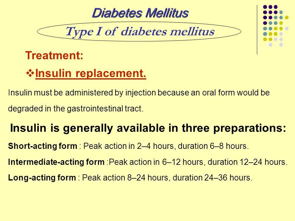 Type I of diabetes mellitus