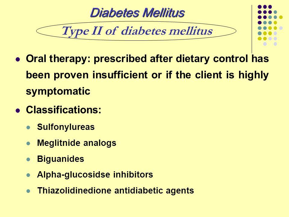 Type II of diabetes mellitus