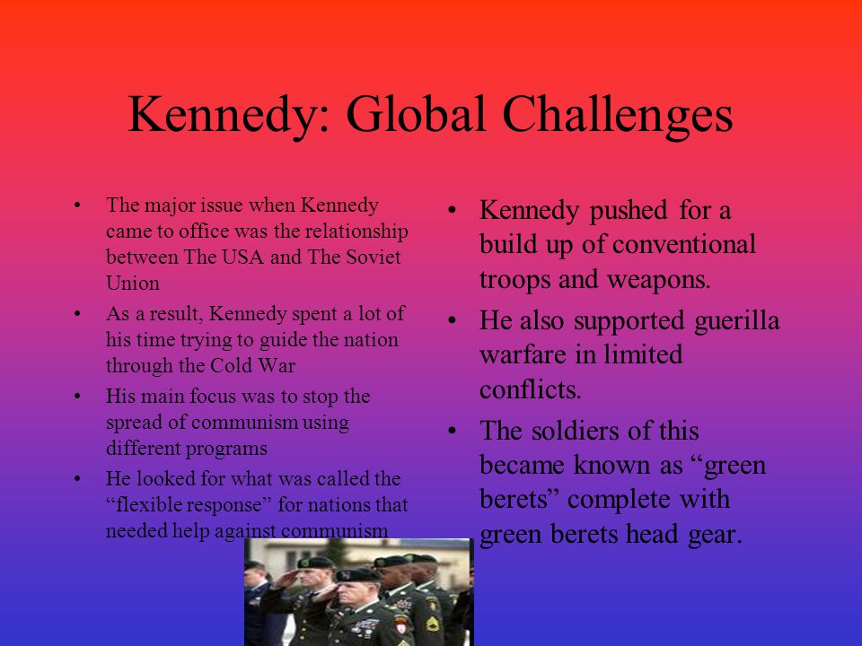 Kennedy: Global Challenges