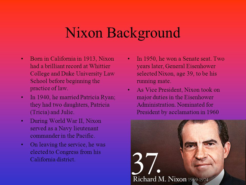 Nixon Background