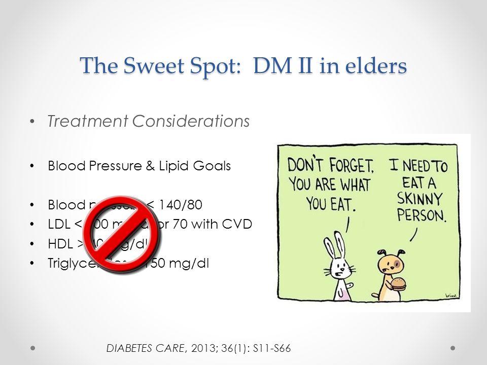 The Sweet Spot: DM II in elders