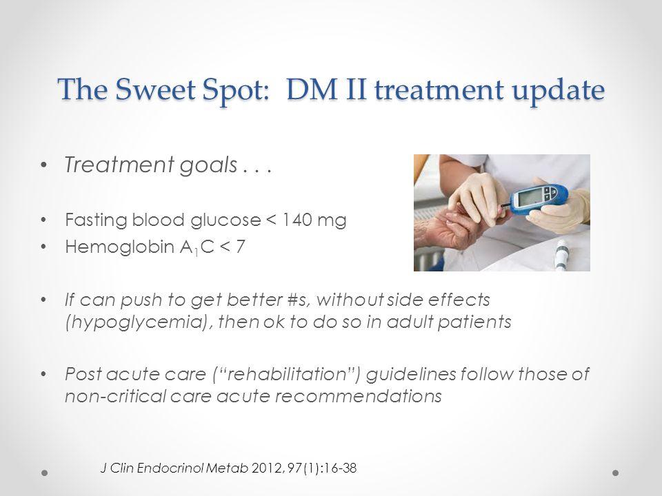 The Sweet Spot: DM II treatment update