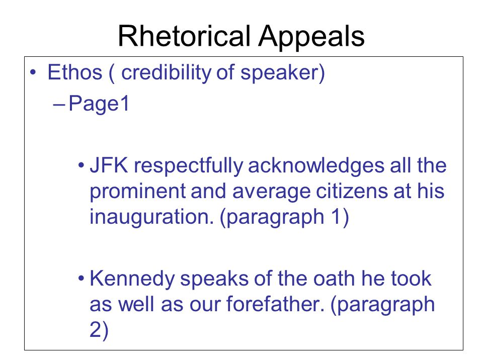 rhetorical analysis on bushs speech to Analyze famous speeches for rhetorical structures and devices (english i a speech is an address given to an you can think of a speech as a rhetorical triangle.