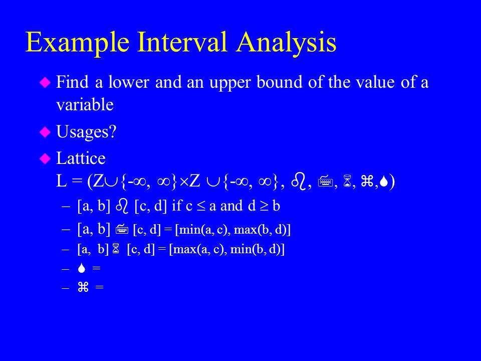 Example Interval Analysis