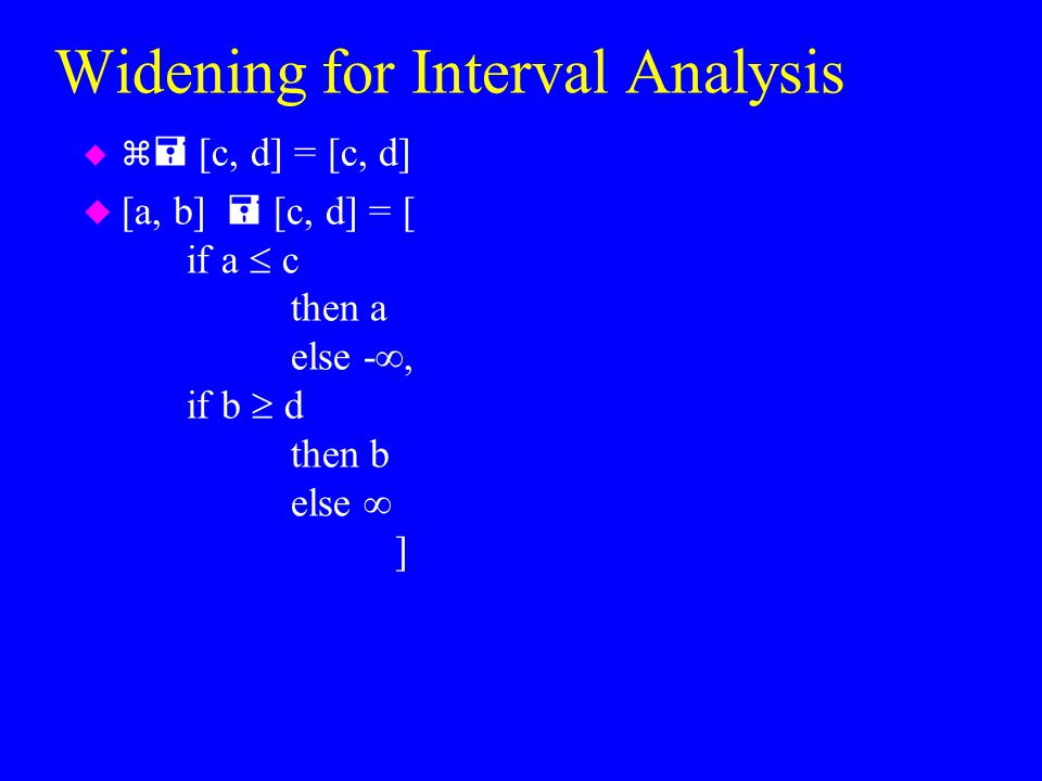 Widening for Interval Analysis