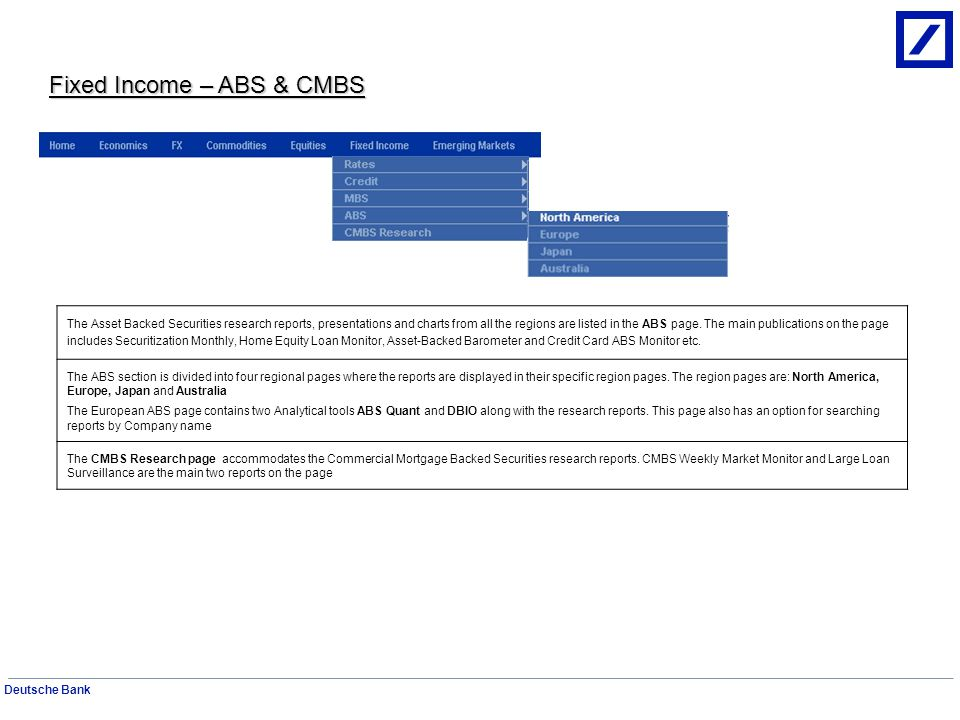 Fixed Income – ABS & CMBS