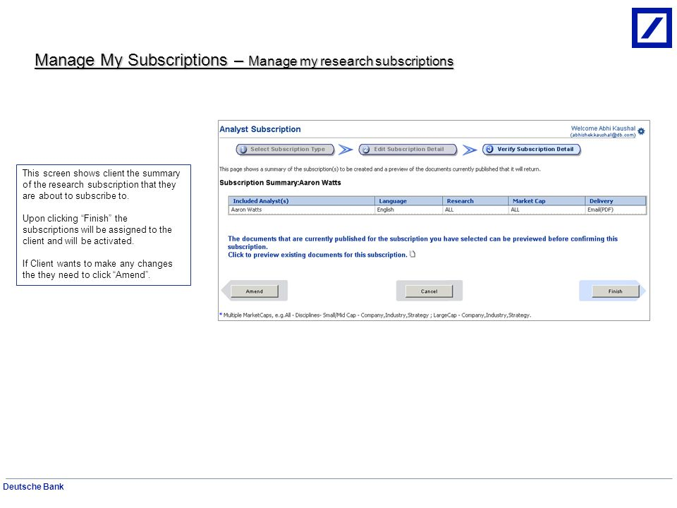 Manage My Subscriptions – Manage my research subscriptions
