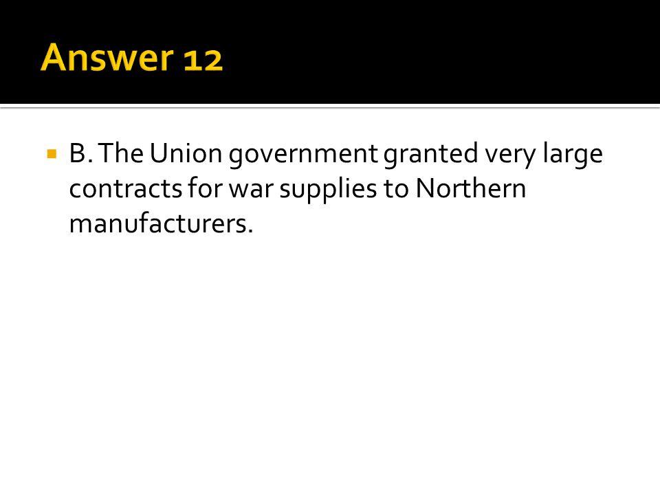 Answer 12 B.