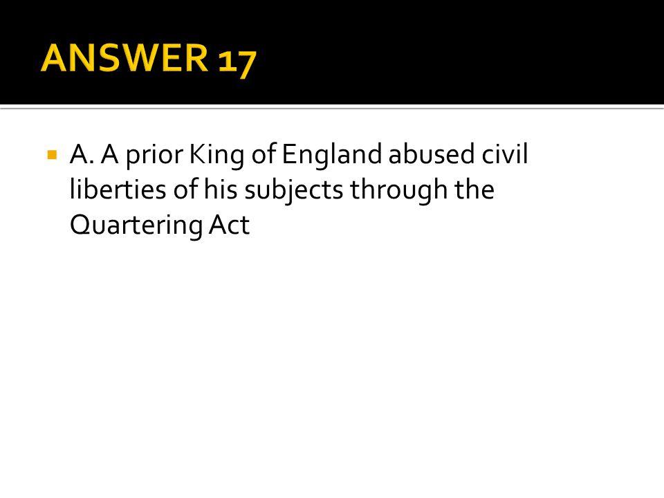 ANSWER 17 A.