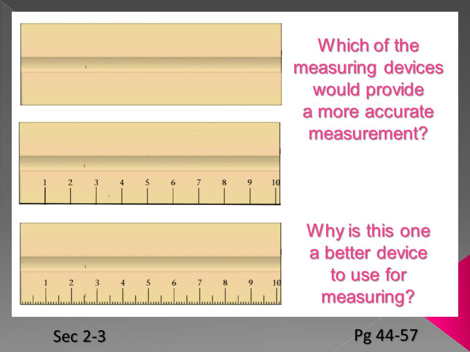 Which of the measuring devices would provide