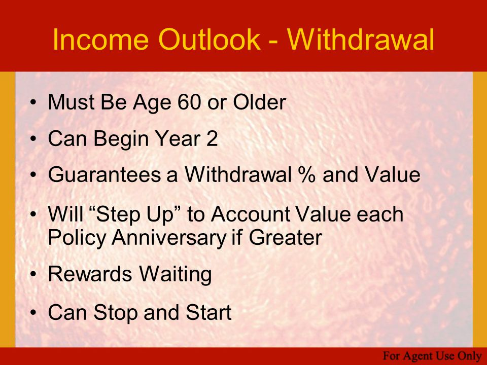 Income Outlook - Withdrawal
