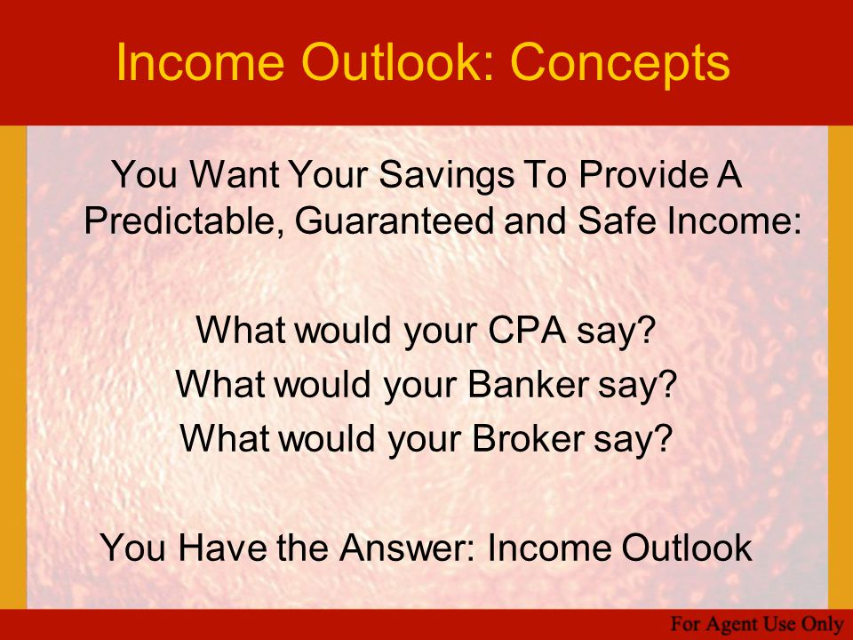 Income Outlook: Concepts