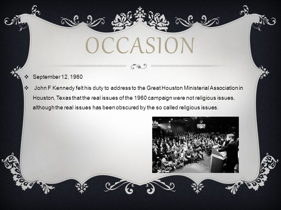 Occasion September 12, 1960.