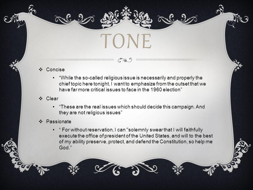 Tone Concise.