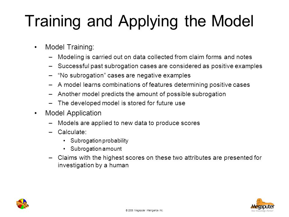Training and Applying the Model
