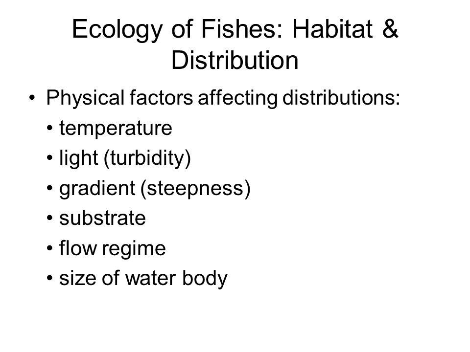 Ecology of Fishes: Habitat & Distribution