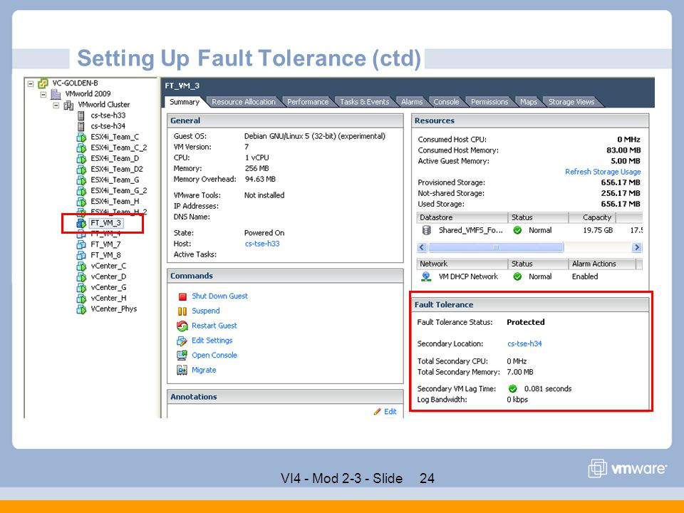 Setting Up Fault Tolerance (ctd)