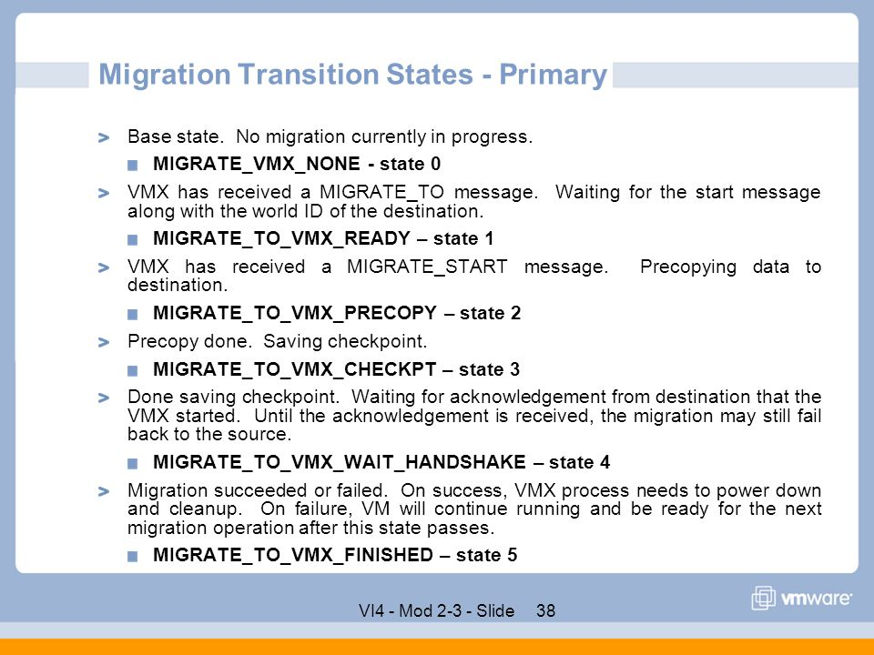 Migration Transition States - Primary
