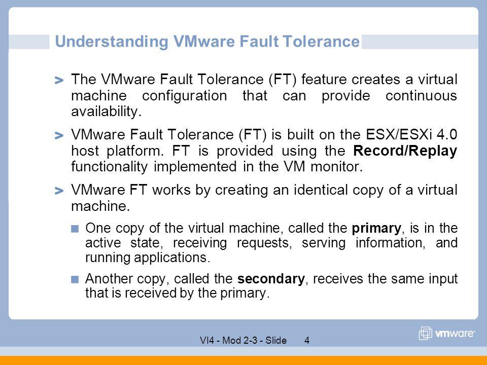 Understanding VMware Fault Tolerance