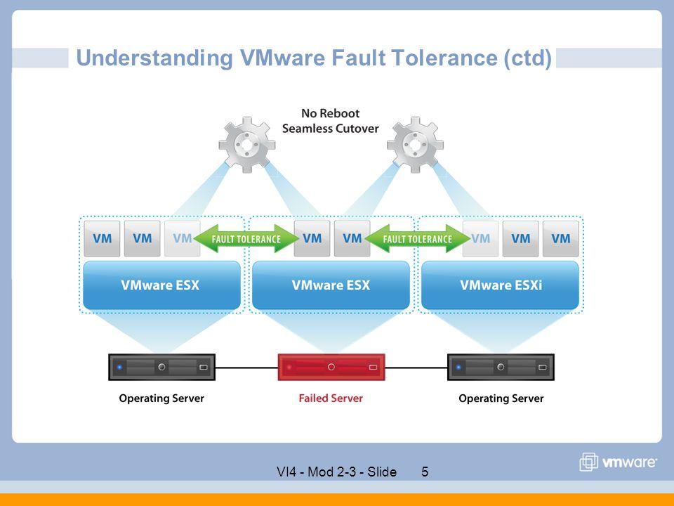 Understanding VMware Fault Tolerance (ctd)