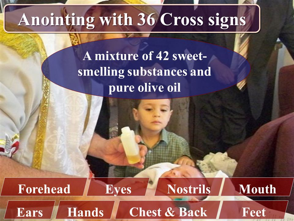 Anointing with 36 Cross signs