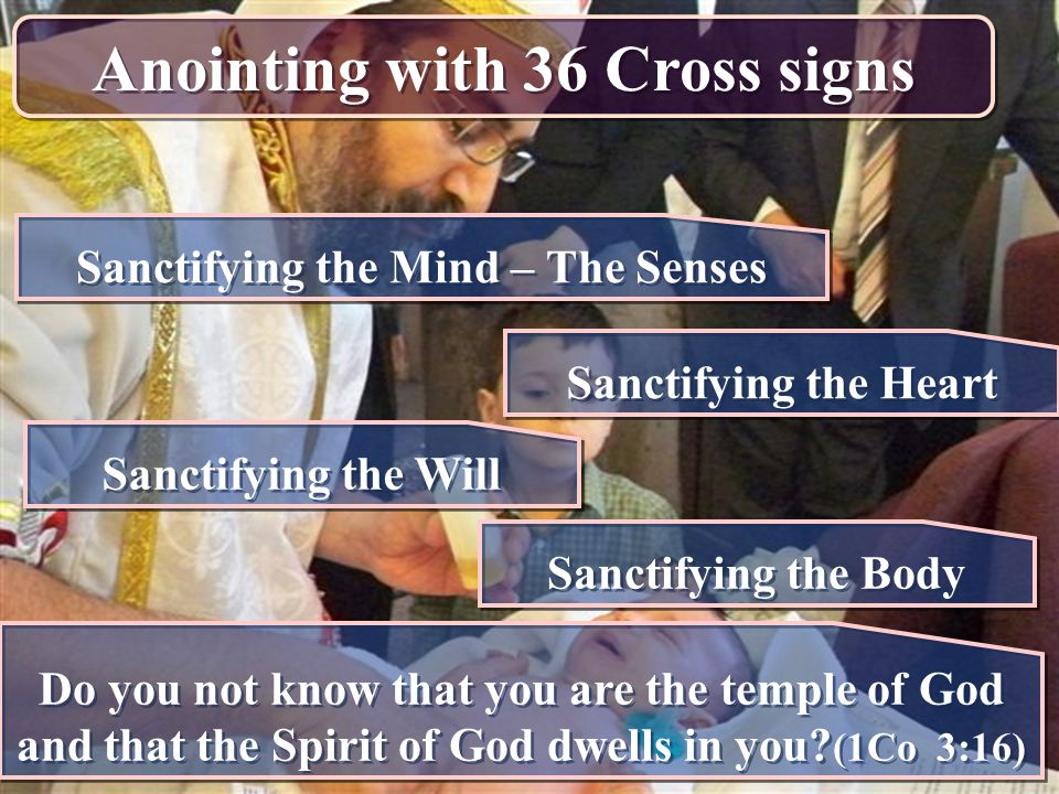 Anointing with 36 Cross signs Sanctifying the Mind – The Senses