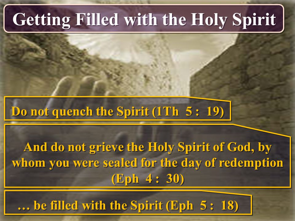Getting Filled with the Holy Spirit
