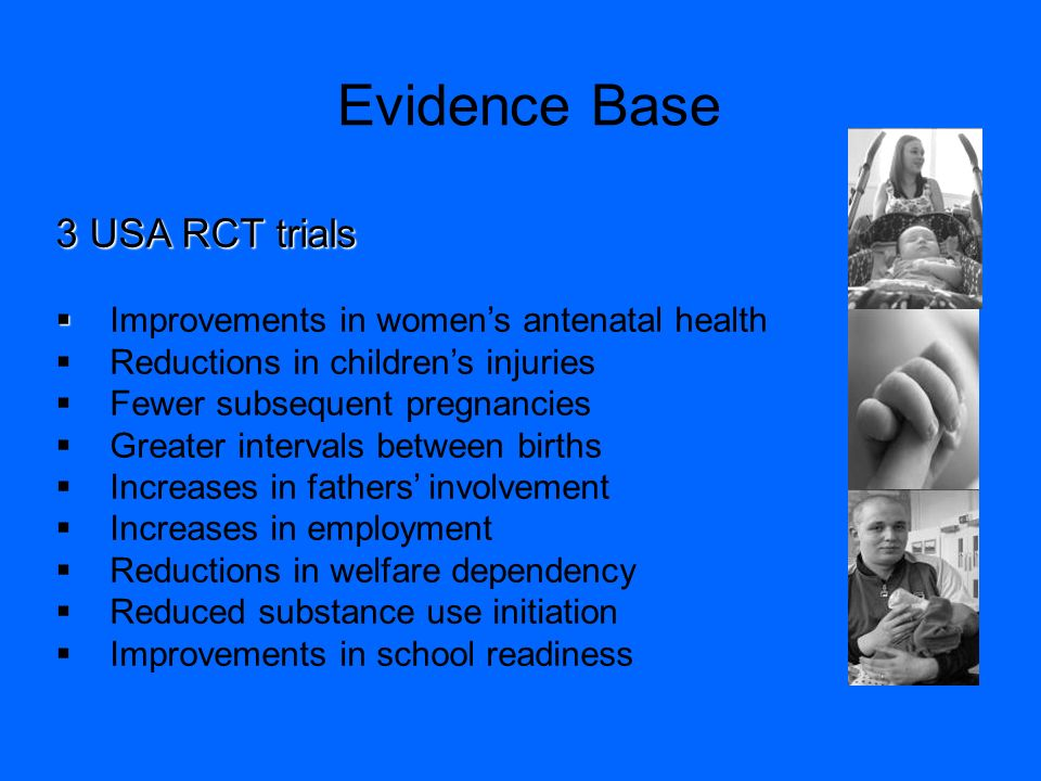 Evidence Base 3 USA RCT trials