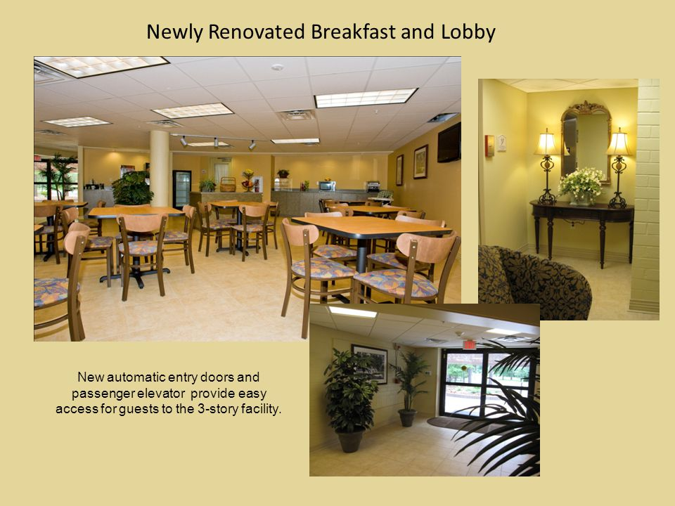 Newly Renovated Breakfast and Lobby