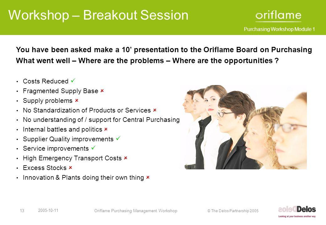 Workshop – Breakout Session