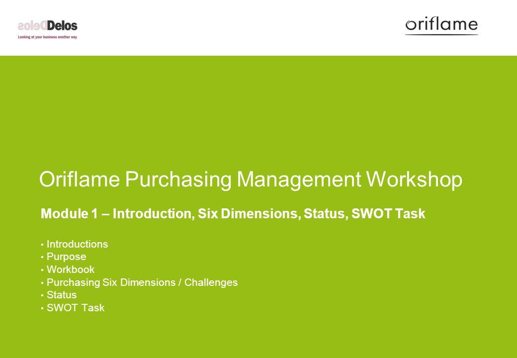 Oriflame Purchasing Management Workshop