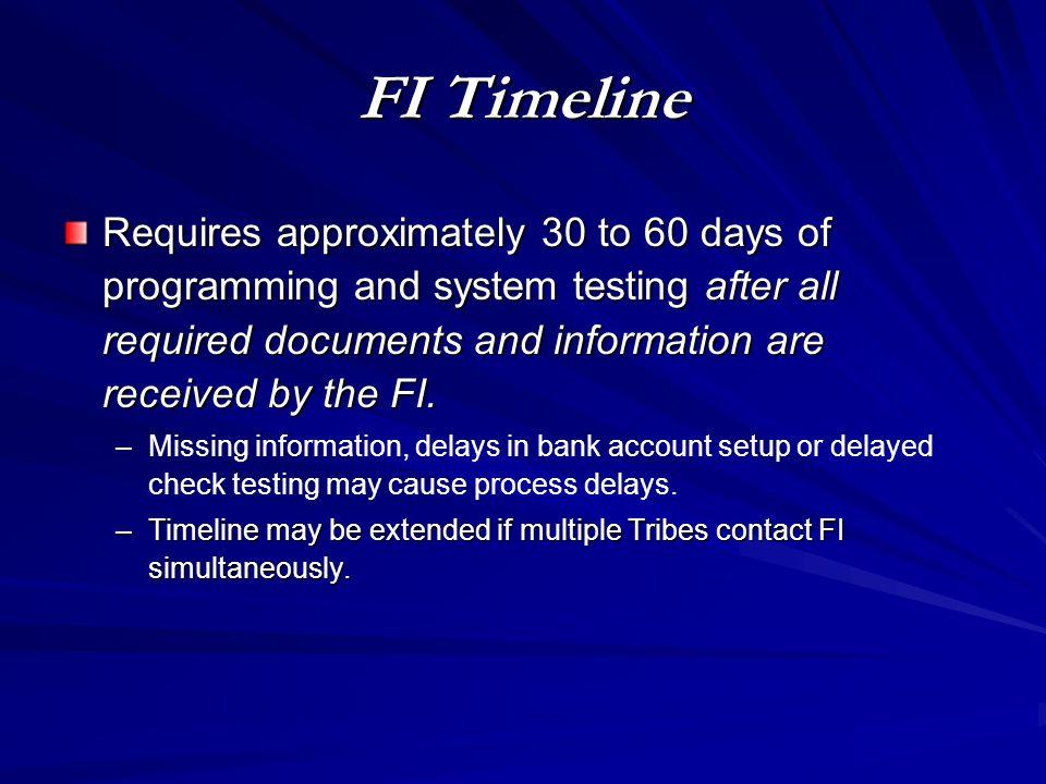 FI Timeline