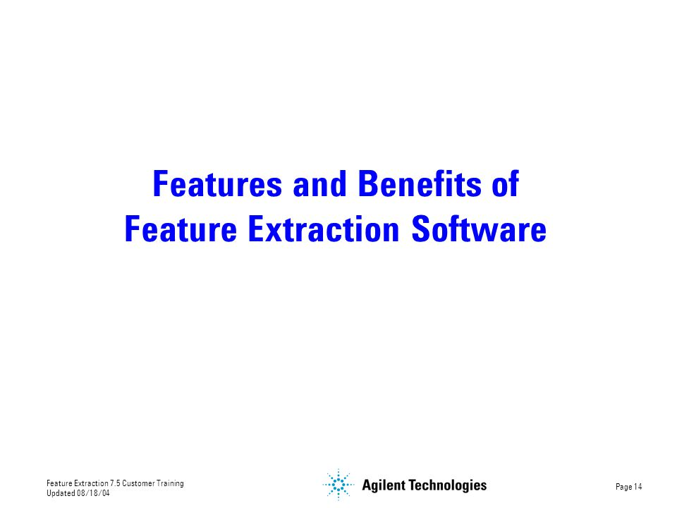 Features and Benefits of Feature Extraction Software