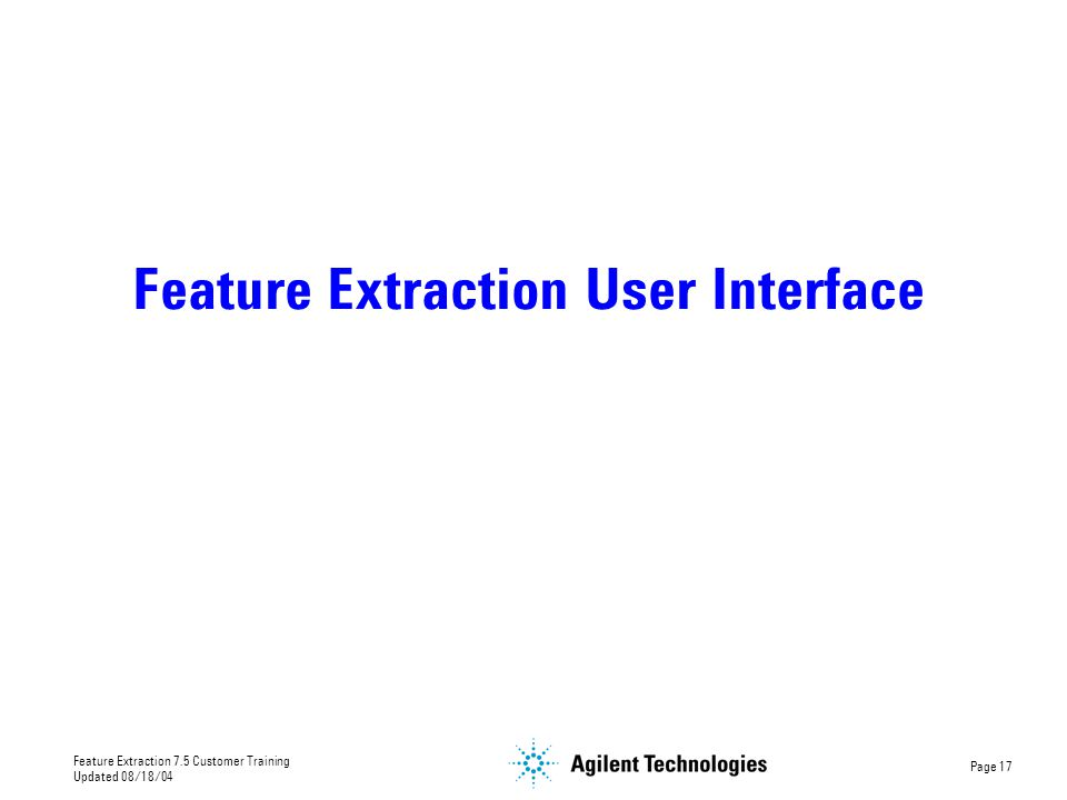 Feature Extraction User Interface