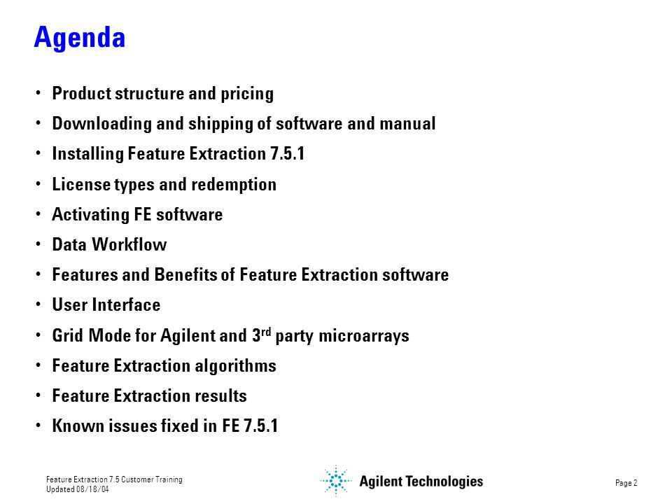 Agenda Product structure and pricing