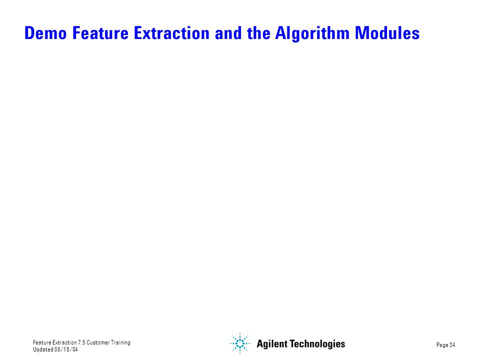 Demo Feature Extraction and the Algorithm Modules