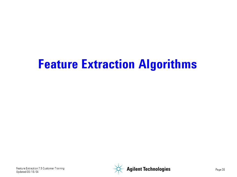 Feature Extraction Algorithms