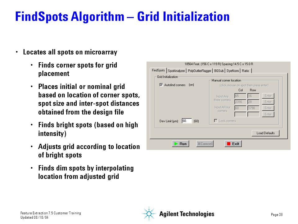 FindSpots Algorithm – Grid Initialization
