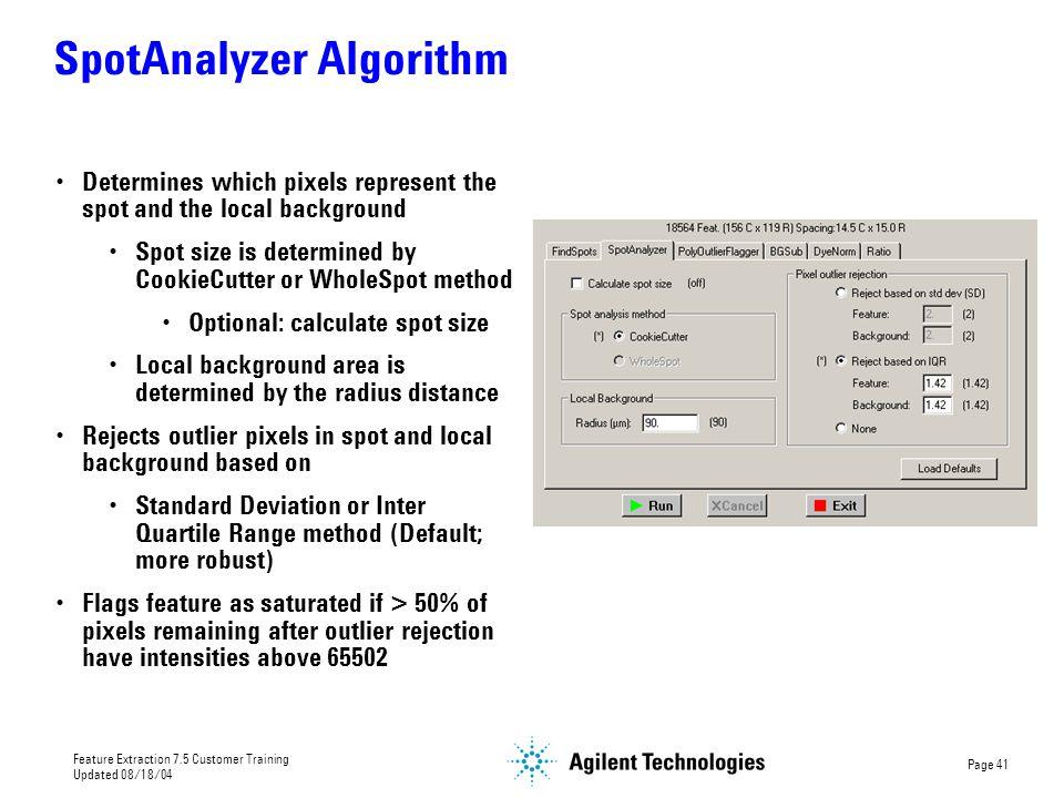 SpotAnalyzer Algorithm